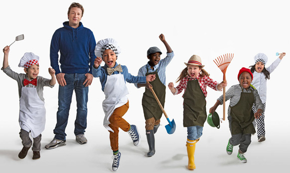 Jamie Oliver and kids
