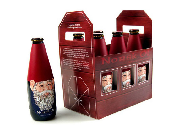 Norsk Ol Beer Christmas Packaging